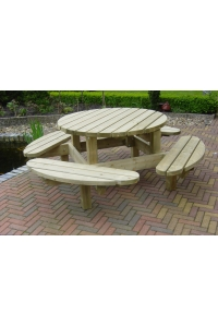 Picknicktafel 8-persoons rond